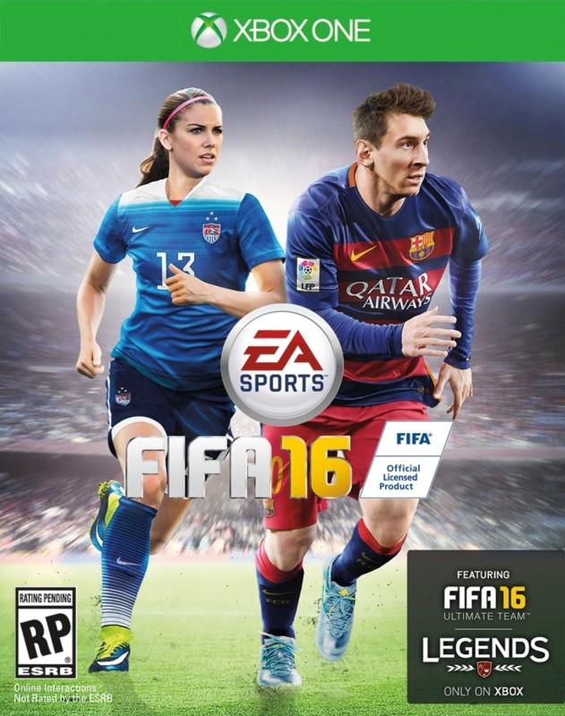 Alex Morgan comparte con Messi portada de videojuego FIFA 16 para Estados Unidos