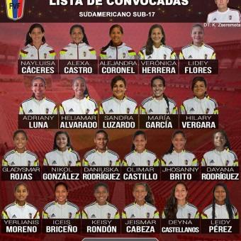Venezuela entrega lista de convocadas al Sudamericano sub-17.
