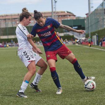 Jenni Hermoso fue gran figura en la victoria de Barcelona sobre Fundación Albacete