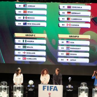 Definidos los grupos para el Mundial Femenino Sub-17 de Jordania