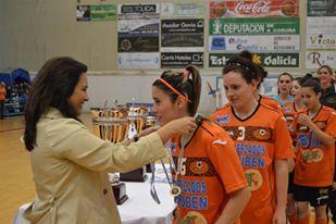 Daniela campeona con El Burela