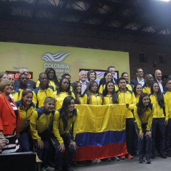 Jugadoras de Selección Colombia presentes en acto del COC previo a Río 2016