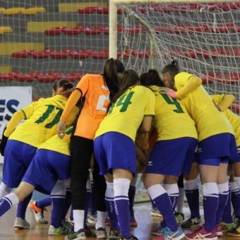 14 convocadas por Brasil para Sudamericano Sub-20 de Futsal