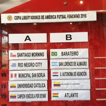 Fueron sorteados los Grupos de la II Copa Libertadores de Futsal Femenino.