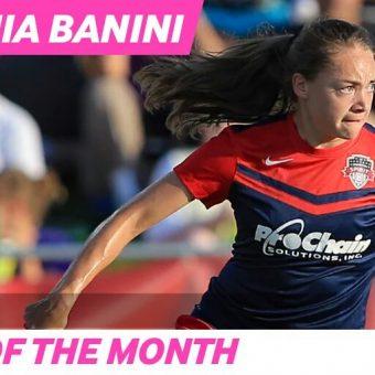 Estefania Banini, jugadora del mes de julio en Estados Unidos