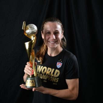 Heather O'Reilly le dice adiós a la selección de Estados Unidos.