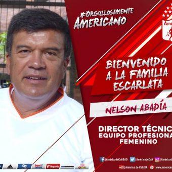 Nelson Abadía, es el nuevo director técnico de América de Cali Femenino.