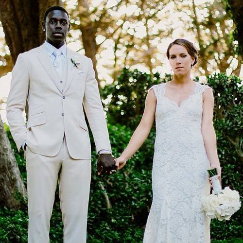 Lauren junto a su esposo el jugador de baloncesto Jrue Holiday.