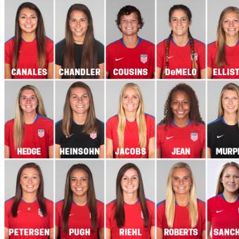 Estados Unidos tiene listo su plantel para Mundial Femenino Sub-20