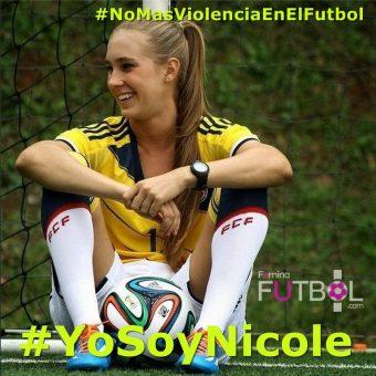 #NoMasViolenciaEnElFutbol #YoSoyNicole