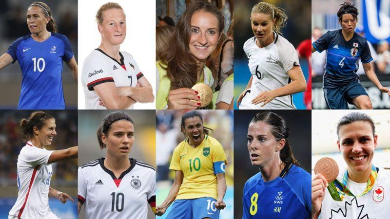10 jugadoras lucharán por ser la mejor del año en los Premios de la FIFA