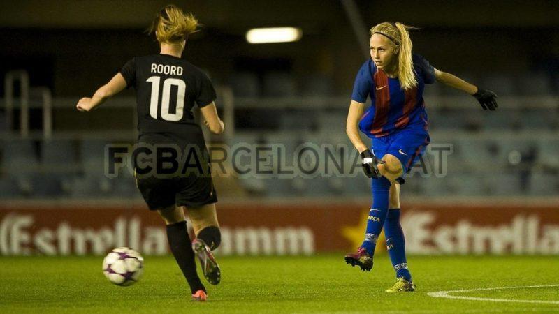 Barcelona venció con muy poco a Twente por la UEFA Women's Champions League