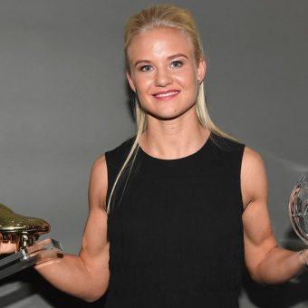 Pernille Harder fue premiada en Suecia por su buena temporada con el Linkopings
