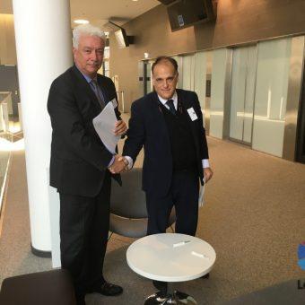 LaLiga y la Dimayor de Colombia firman un convenio de colaboración