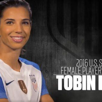 Tobin Heath, la mejor futbolista del año en Estados Unidos.