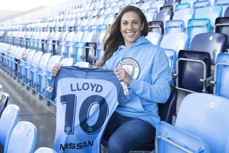 Carli Lloyd nueva jugadora del Manchester City.