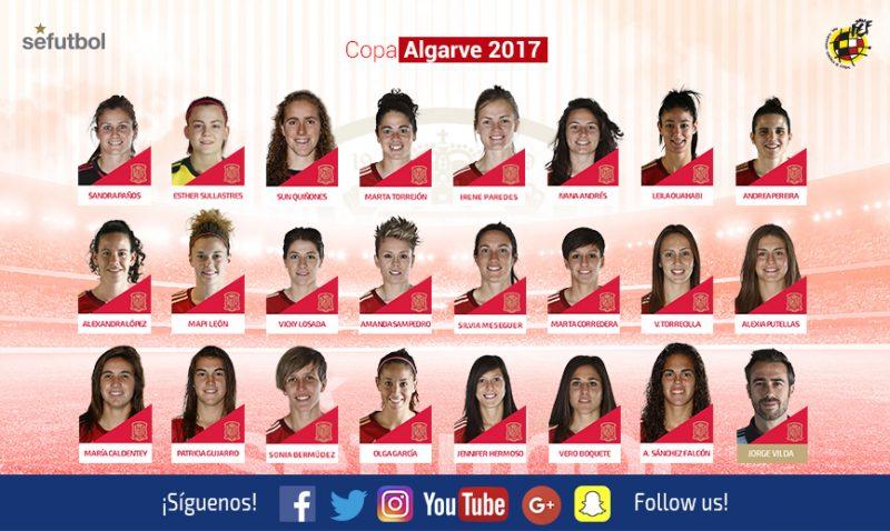 España saldrá con 23 jugadoras para disputar la Algarve Cup 2017