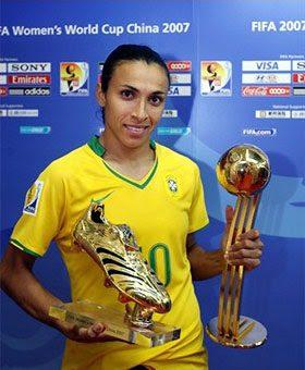 La brasileña y 5 veces jugadora del año Marta, se une esta temporada al Orlando Pride de la NWSL