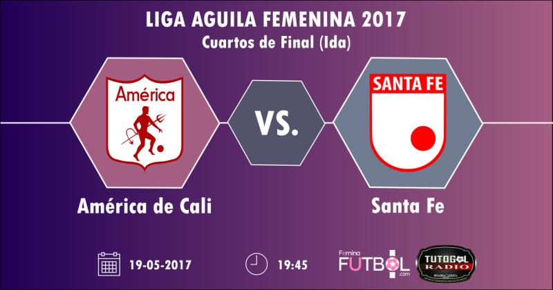 Fémina Fútbol y TutoGol Radio transmitirá el partido América vs. Santa Fe