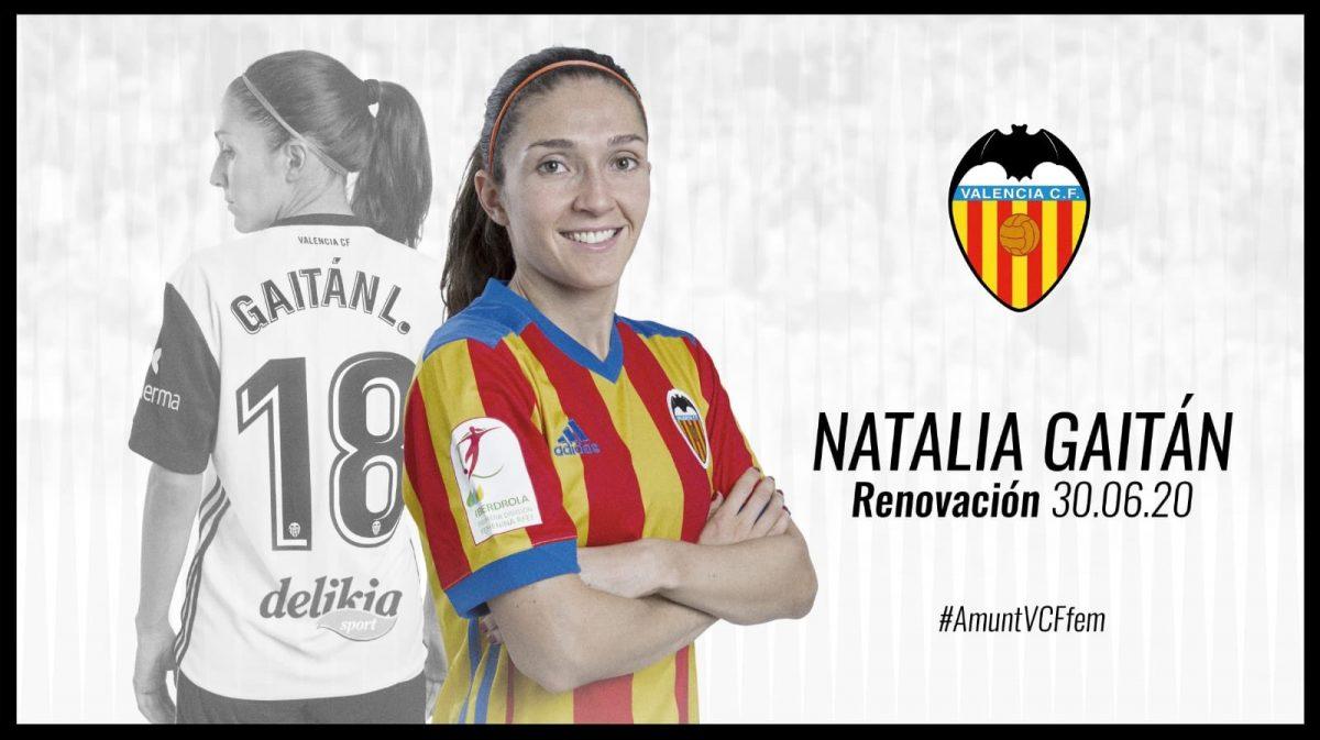 Natalia Gaitán extendió su contrato con el Valencia hasta 2020