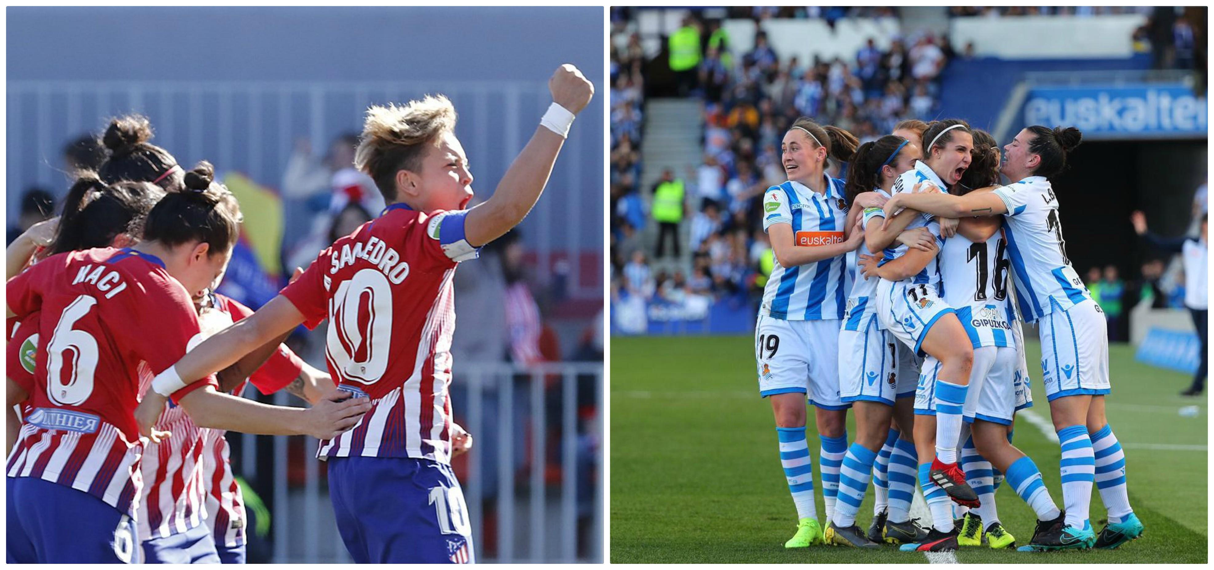 Atlético de Madrid y Real Sociedad avanzaron a la final de la Copa de la Reina - Fémina Fútbol