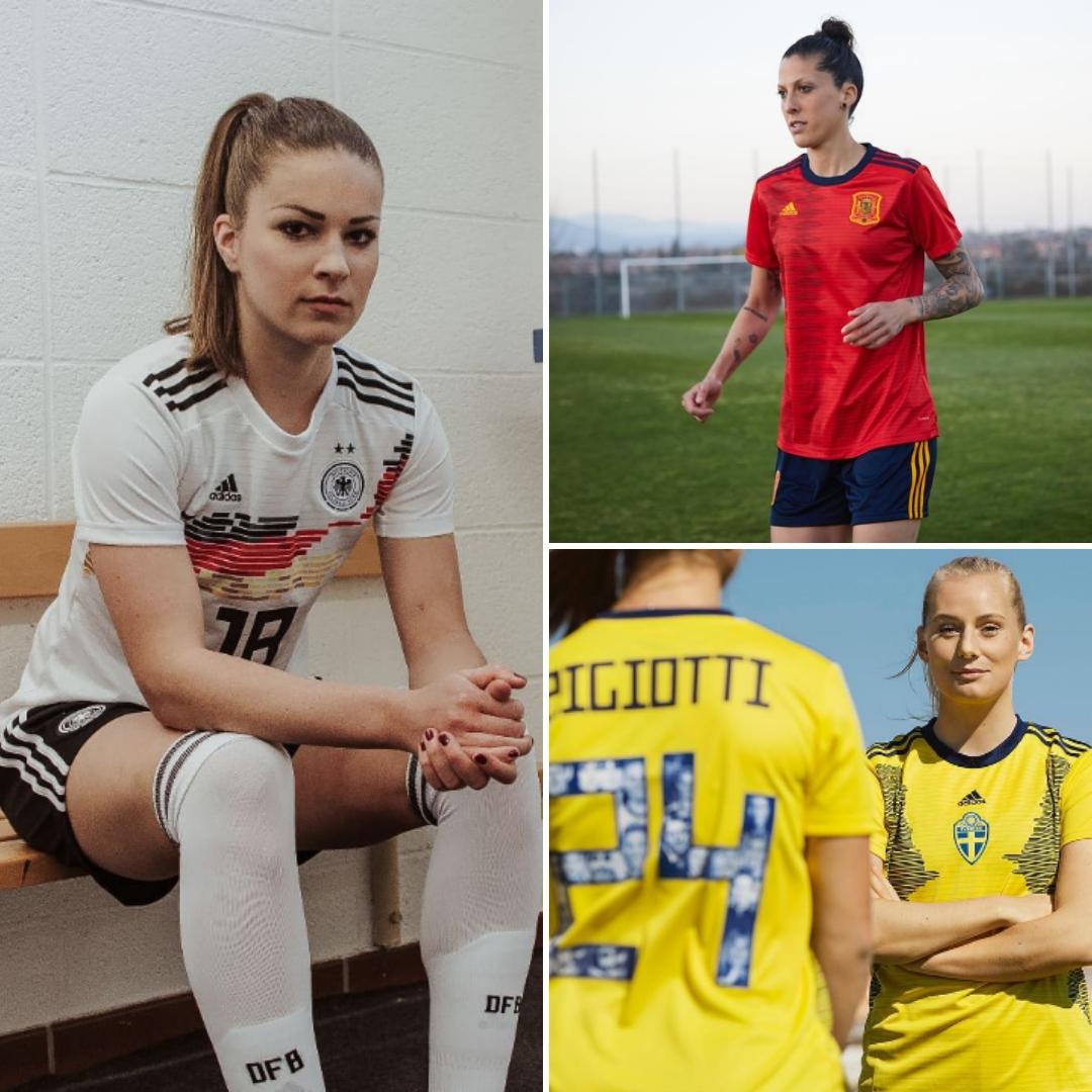 0d2c4445b2816 18 selecciones femeninas presentan sus nuevos uniformes para Francia ...